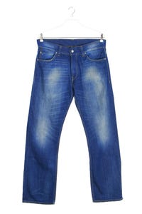 LEVI STRAUSS & CO. - used look straight cut jeans - W36