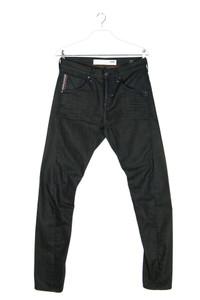 mavi white edge - tapered jeans mit logo-patch - W30