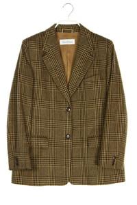 Max Mara - vintage-blazer aus woll-mix mit karo-muster - D 42