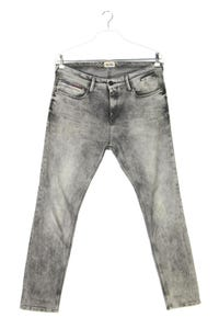 Hilfiger Denim - moonwashed skinny-jeans mit logo-patch - W34