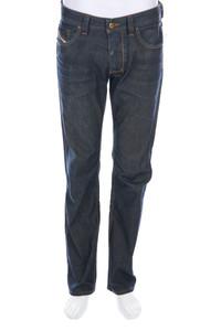 Diesel Industry - used look straight cut jeans mit logo-applikation - W32