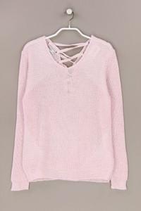 TODAY - glitzer-strick-pullover mit schnürung - M