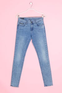Calvin Klein Jeans - used look skinny-jeans mit logo-patch - W27