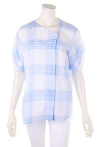 MAISON ULLENS - kurzarm-bluse mit karo-muster - XL