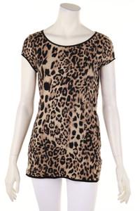 MARC CAIN - kurzarm-shirt mit intarsia knit-muster - M