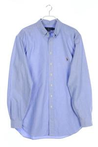 RALPH LAUREN - button-down-hemd mit logo-stickerei - L