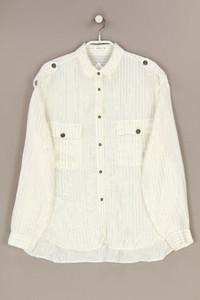 MANGO - streifen-bluse mit metallic-effekt - M