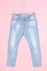 DIESEL - used look boyfriend-jeans mit logo-badge - W30