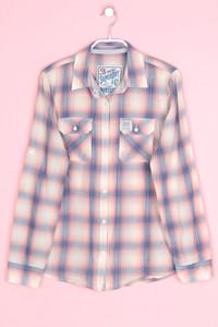 Superdry. - hemd-bluse mit karo-muster - S