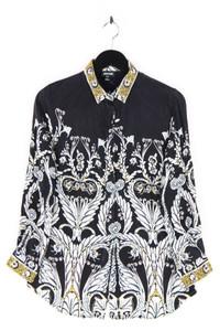 Just cavalli - hemd-bluse aus seide mit print - M