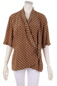 JOSEPH JANARD - vintage-bluse aus seide mit punkten - D 44
