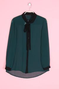 ZARA TRF - bluse mit schluppe - S