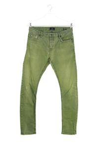 SCOTCH & SODA - used look skinny-jeans mit logo-patch - W32