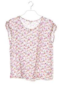 ESPRIT - ärmellose bluse mit floralem muster - D 36