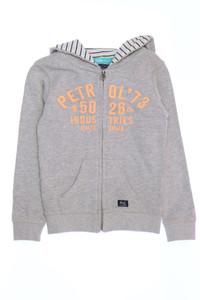 PETROL INDUSTRIES - zipper-cardigan mit logo-stickerei - 116