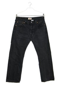 Levi´s - used look straight cut jeans mit logo-patch - W36
