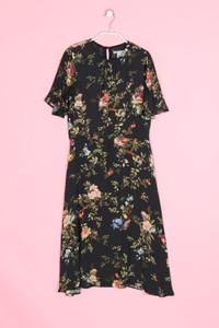 H&M - midi-kleid mit blumen-print - D 36