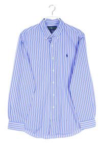 RALPH LAUREN - gestreiftes button-down-hemd mit logo-stickerei - L