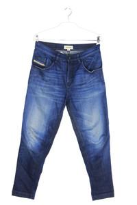 DIESEL - jeans mit logo-patch - M