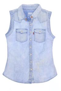 Levi´s - bluse in denim-optik mit logo-badge - 164