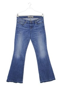GUESS Los Angeles - used look flared-jeans mit logo-plakette - W32