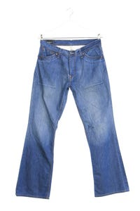 Pepe Jeans London - used look straight cut jeans mit logo-patch - W34