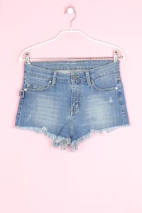 ZADIG & VOLTAIRE - jeans-shorts im used look mit logo-badge - D 36