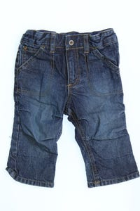 H&M - used look-jeans mit logo-badge - 62