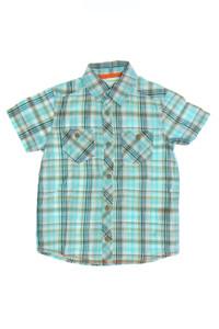 vertbaudet - kurzarm-hemd mit karo-muster - 110