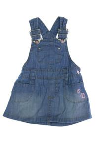 H&M - jeans-latz-kleid mit stickereien - 62