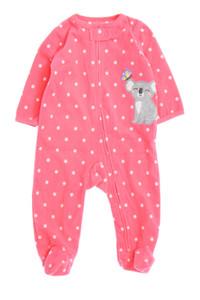 carter´s - fleece-overall mit polka dots - 68