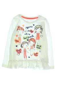 NUTMEG - print- t-shirt mit rüschen - 98