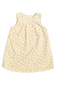 BENETTON BABY - cord-kleid mit print - 74