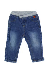 C&A - used look-jeans mit logo-stickerei - 80