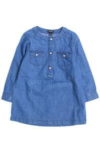 Kiabi - jeans-kleid mit aufgesetzten taschen - 92