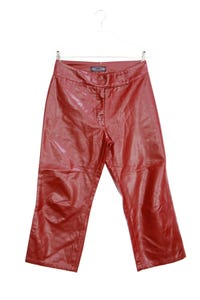 Driver - cropped-faux leather-hose - W30