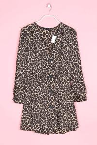 ZARA - mini-kleid mit leo-print - L