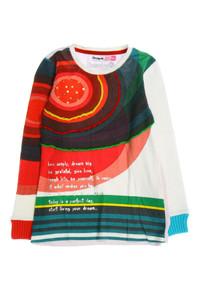 Desigual - muster-pullover mit pailletten - 134