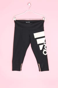 adidas - cropped-sport leggings mit logo-print - S