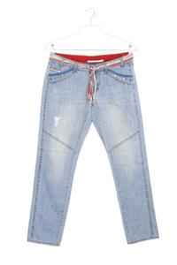 NILE atelier - jeans im used look mit gürtel - S