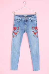 ZARA - distressed skinny-jeans mit stickereien - D 34