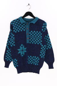 HEIM CHIC - strick-polo-pullover mit intarsia knit-muster - D 40