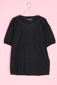 ESCADA MARGARETHA LEY - vintage-kurzarm-shirt mit logo-stickerei - L