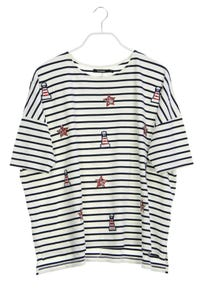 Desigual - nautical-shirt mit patches - M