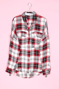 MANGO BASICS - hemd-bluse mit karo-muster - S