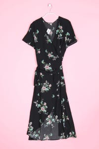 H&M - wickelkleid mit floralem muster - D 46