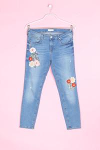 ZARA WOMAN - cropped-jeans mit stickereien - D 42