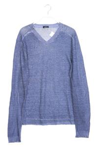 strellson - garment dyed-v-neck-pullover mit leinen - S