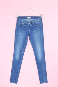 Pepe Jeans London - used look skinny-jeans mit logo-patch - W28