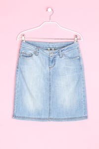 MANGO JEANS - jeans-rock im used look mit falte - D 36